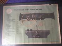 1956 Dealer Poster - Instruments and Controls VW Sedan