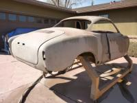 sand blasting my 57 Ghia coupe