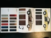 1965 ghia colour chart showing slate interior