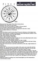Eberspacher Timer Clock Instructions