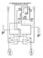 Flashing semaphore wire circuit