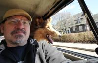 Me and the pup enjoying a Spring cruise in the '70 Bug...