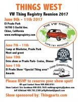 Things West 2017 Car Show flier