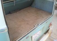 Original rear carpet from a 60K-mile Turquoise & Blue-White 1964 Deluxe Microbus hardtop
