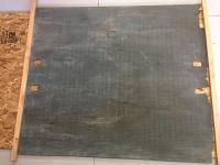 Blue floor mat