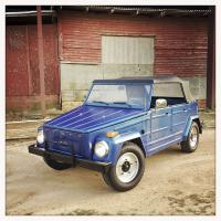 """1973 VW Type 181 """"Thing"""": Blue, Centerlines, 205/75/r15 General AT2 Grabbers"""
