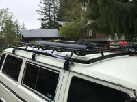 Homemade Bumpers and roof rack.