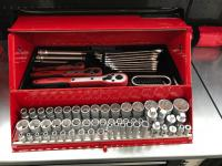 Teng Tools Barn Style Toolbox with Satin Finish tools Measurements