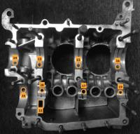 VW WBX 2.1 crankcase oil galleries