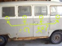 1964 vw bus cargo doors closed