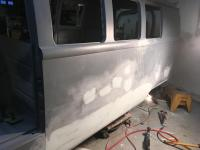 Pedro's bus some filler applied on long side