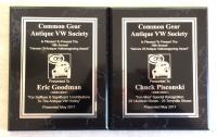 2017 Heroes of Antique Volkswagening Honorees Plaques