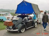 Roof-top tent for VW Beetle