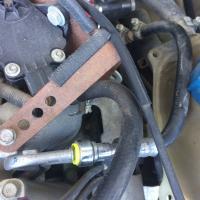 subaru ej25 fuel line routing issue