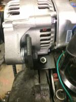 Type 3 alternator conversion and AC compressor bracket