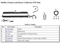 1979 CA Muffler Diagram