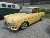 1966 Slammed Yellow Notchback Fuchs 17's