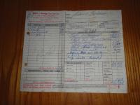 Tail light repair receipt