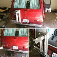 Aluminum rear bumper assembly