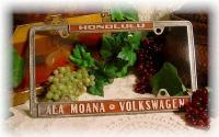 Ala Moana, Honolulu dealer plate frame