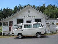 "On Orcas Island with my Westy, ""Olga""."