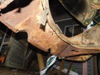 1962 Beetle Rear Apron Repair needed