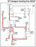 87 cooling fan circuit