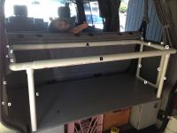 Eurovan Weekender rear child cot