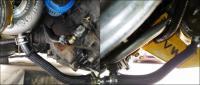 Turbo oil drain