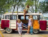 Surf Girls and Van