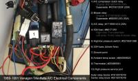 1989-1991 Vanagon A/C Electrical