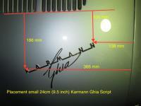 Decklid Placement Karmann Ghia Script