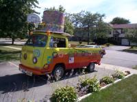 The Bartlett Hippie Hay ride in 2003 parade dress