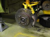 real holey brake rotor
