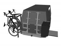 custom swing away bike rack