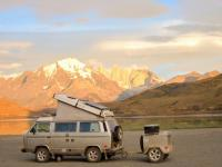 Vanagon with Trailer in South America