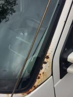 1999 Eurovan Weekender rust on pillars
