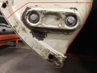 Rust in 1964 notchback front bumper mount