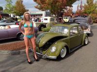 Girl and VWs