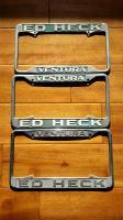Ventura Heck Motor Company plate frames
