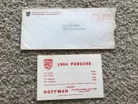 1964 Porsche Price Card