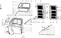 Cab Cargo Wing Doors Exploded View Diagram