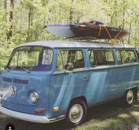 bus and kayak