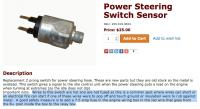 power steering (PS) switch