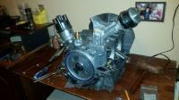 mocked up engine