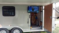Trailer with TV and Canopy out