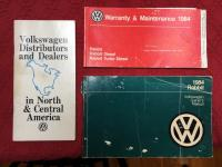 1984 Rabbit Owners manual, Warranty Booklet and Dealer List