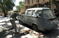Army smashes an Iraq Double cab
