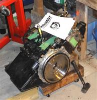 install kep adaptor flywheel engine off stand