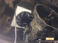 Condenser and fans above transmission squareback
